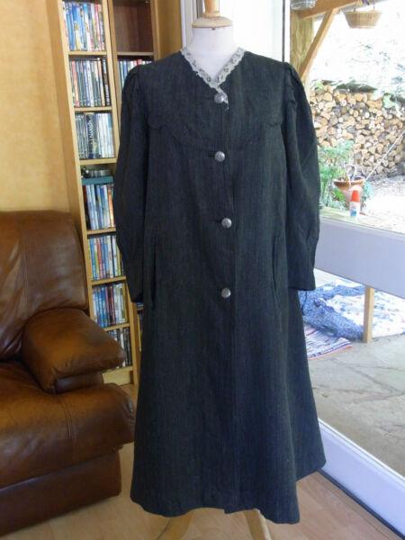 Brillante Antico Cappotto Donna Fine Xix T 36/38 Old Donna Coat Xix Siz S
