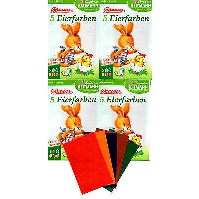 4x 5 BRAUNS EIERFARBEN Färbeblättchen für heißes Wasser - Ostereierfarbe - 4121