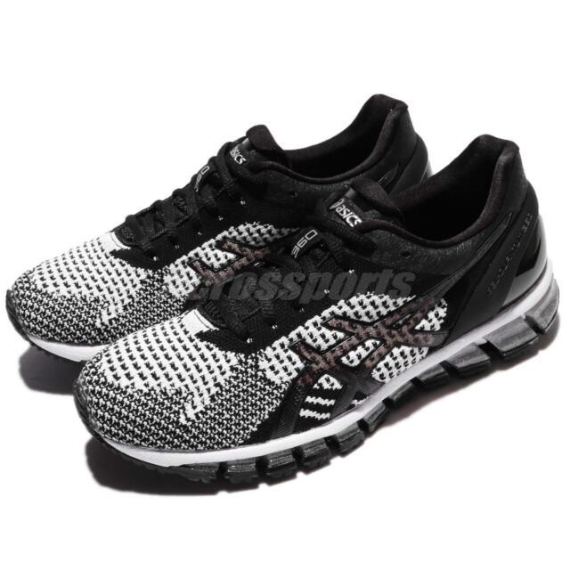 Asics Gel-Quantum 360 Knit Black White Silver Women Running Shoes T778N-9001