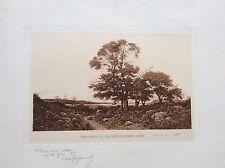 Phototypie signée HENRI HARPIGNIES La Loire à Briare