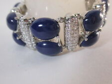 Banana Republic Cabochon Crystal Stretch Bracelet NWOT $48.50 Navy