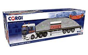 CORGI-cc15211-1-50-MAN-TGX-lastra-piana-e-carico-Anello-metallico-NUOVO