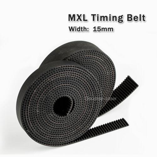 MXL Timing Belt largeur 5 mm 10 mm 15 mm Belt for CO2 Gravure Cutter//CNC//Step Motor