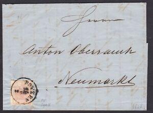 AUSTRIA-TIROLO-3-kr-tipo-III-su-lettera-da-Bolzano-per-Neumarkt