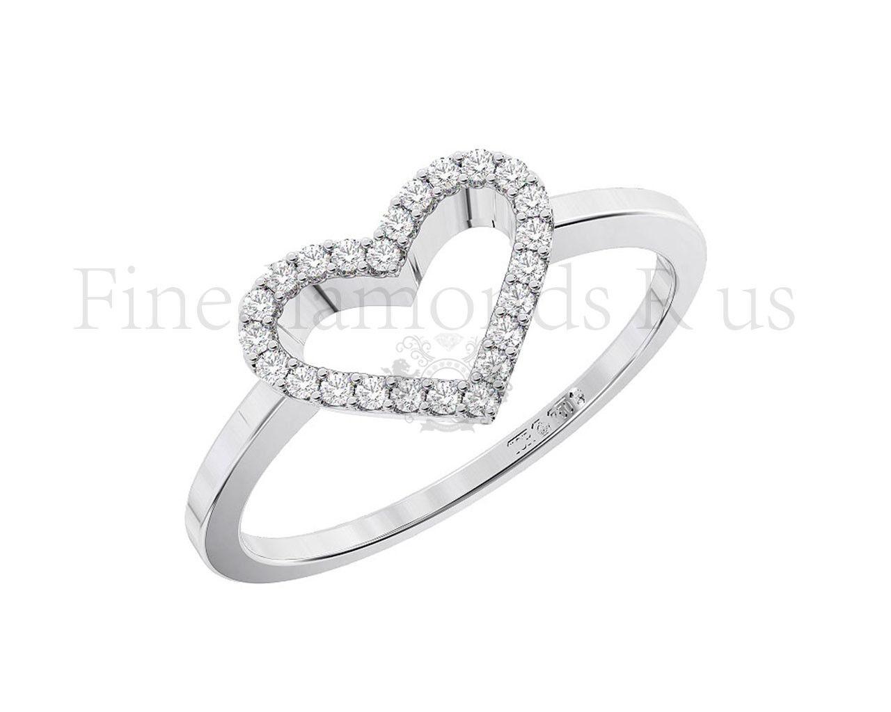 0.10 0.10 0.10 KT brillante rossoondo diamante taglio cuore Anello Disponibile in oro 9K 181d0d