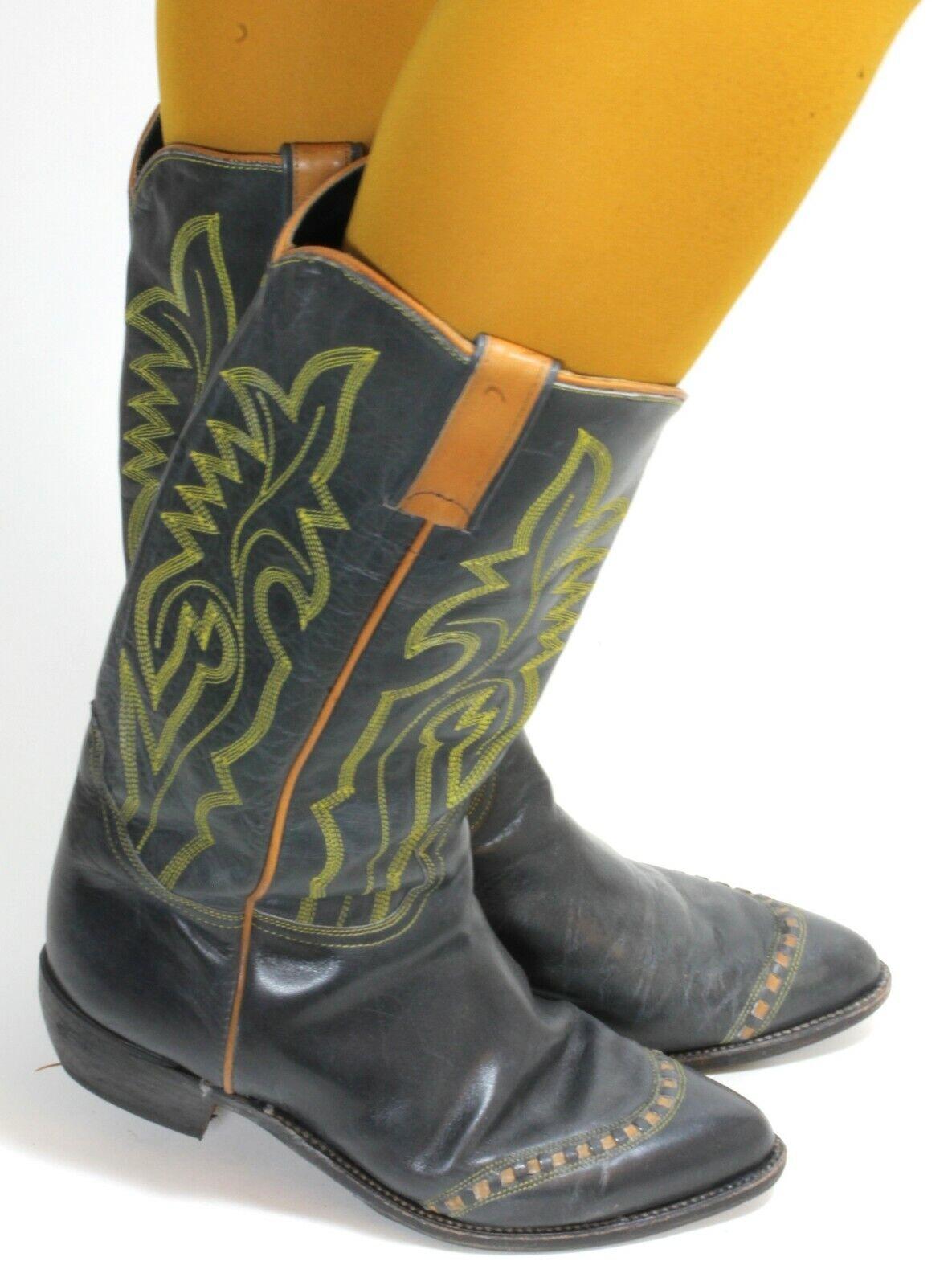 Western Bottes Bottes De Cowboy catalan Style Line Dance Cuir Texas bottes 39