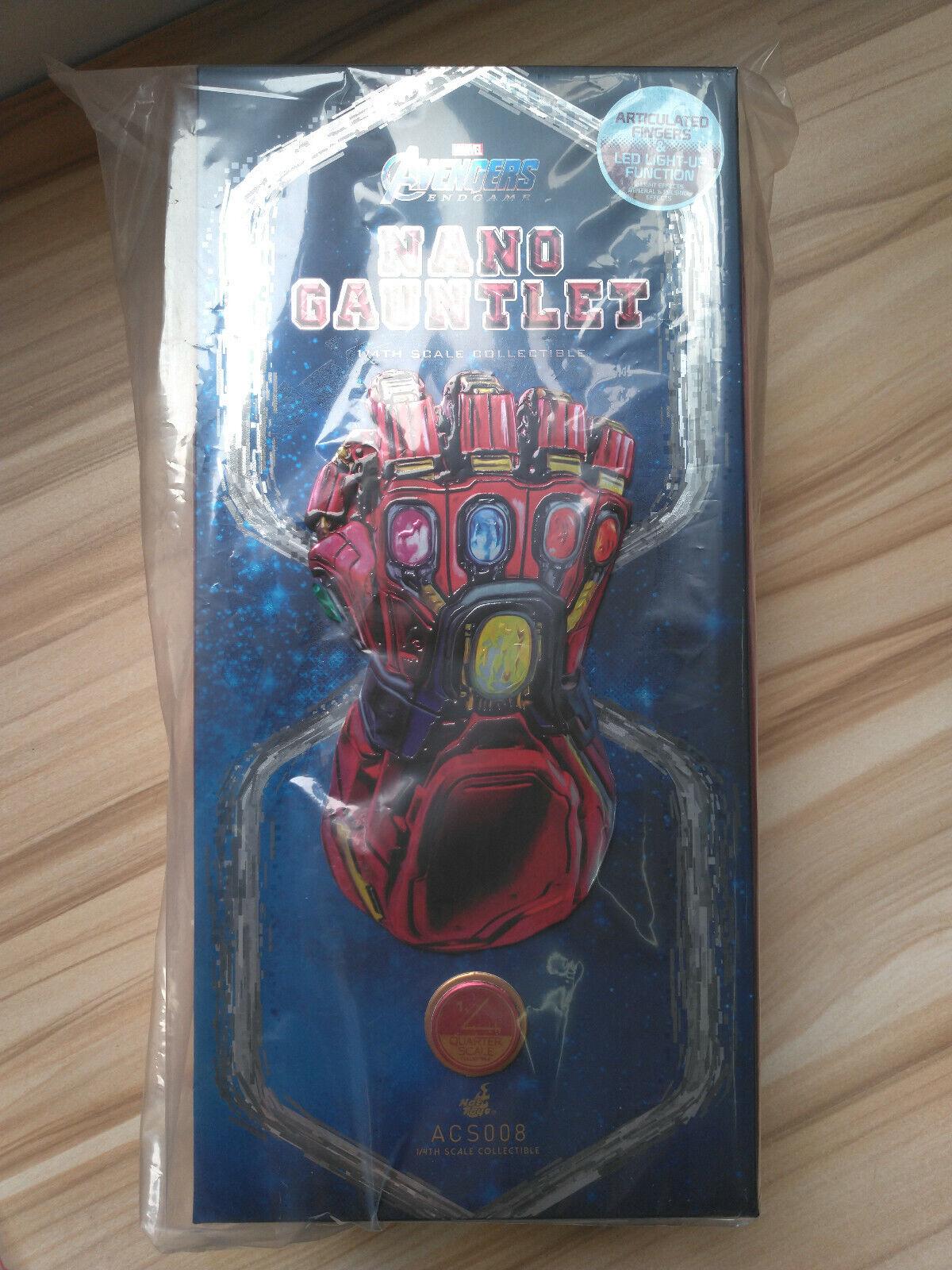 Hot Juguetes ACS 008 Vengadores Tacho Ironman 1 4 Nano Guantelete Promo de película versión