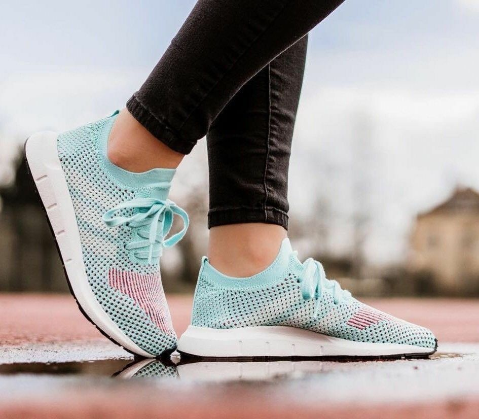 Adidas Originals Swift Run Women's (Size 6 - 11) Aqua   White CQ2034