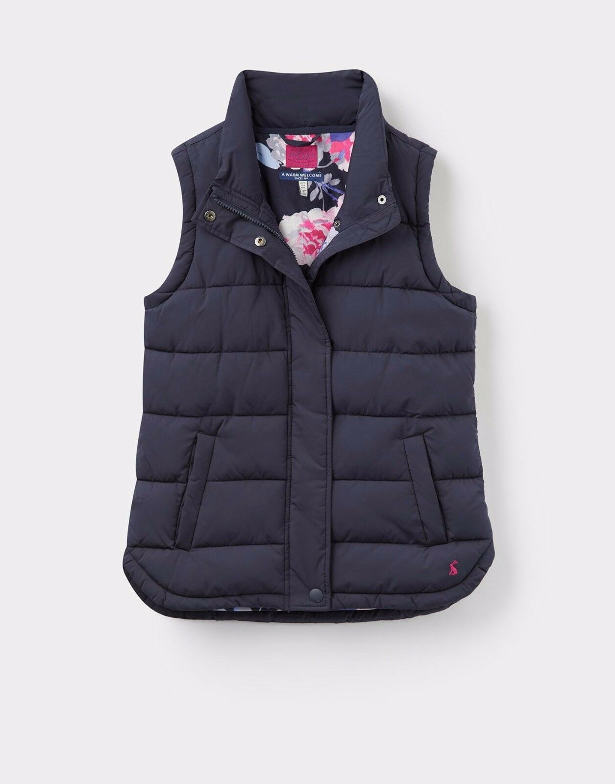NEW  Joules Ladies Eastleigh Padded Gilet  Marine Navy Sizes 8   16  big discount