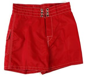 08833d015a Birdwell Beach Britches Mens Board Shorts Size 27 Red USA Made 100 ...