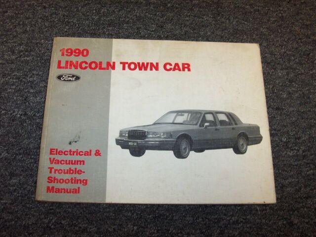 1990 Lincoln Town Car Sedan Electrical Wiring  U0026 Vacuum