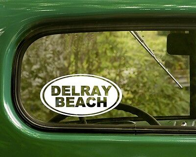 2 Oval for Travel Mug Laptop Boca Raton Decal Sticker Florida Car