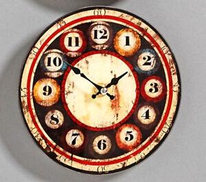 1-Wanduhr-nostalgische-Kuechenuhr-Glas-Retro-Uhr-Shabby-Clock-Shabbyuhr-Retrouhr