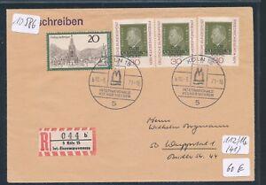 10586) Spécial R-ticket De Cologne Int. - Fer étaient Messe, Lettre Sst 10.3.71-nmesse, Brief Sst 10.3.71fr-fr Afficher Le Titre D'origine CaractéRistiques Exceptionnelles