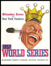 1957 World Series Program Milwaukee Braves vs. N.Y. Yankees. NM-MT Condition!