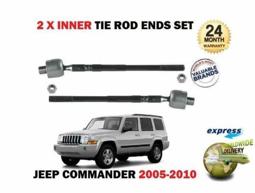 FOR JEEP COMMANDER 2005-2010  2x INNER STEERING TRACK RACK TIE ROD END SET