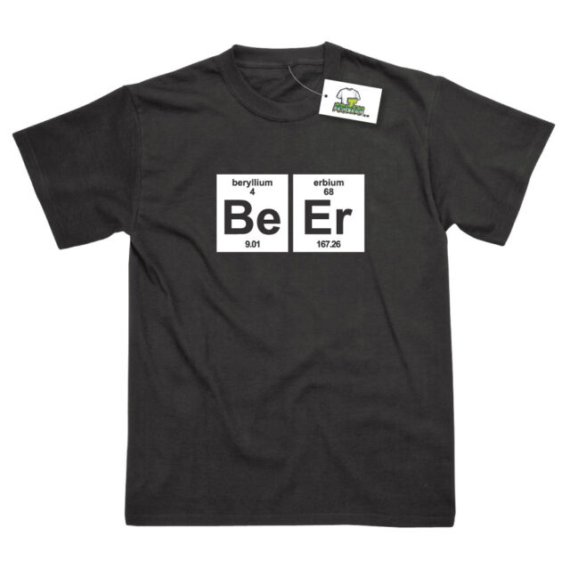 BEER ELEMENTS GEEKY FUNNY SCIENCE PRINTED T-SHIRT