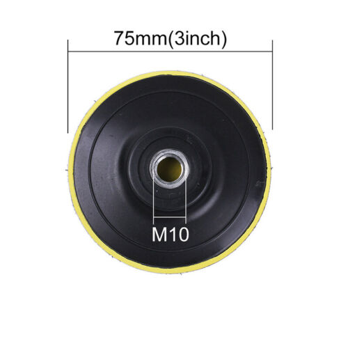 12x Polierschwamm Polierpads Set 80mm Polierscheibe Auto Polierpad Polierset