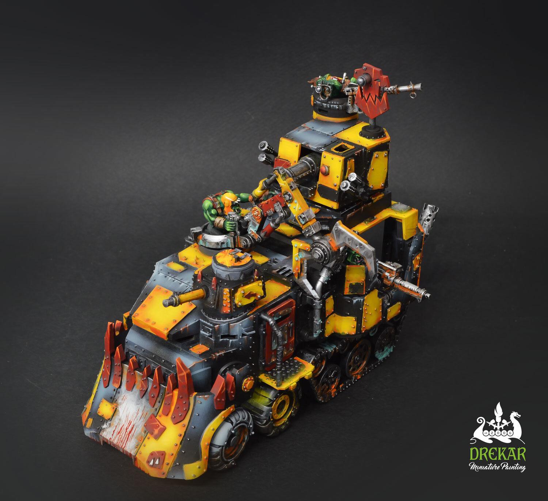 slåsswagon Orks warhammer 40K  KOMMISSIONEN  målning