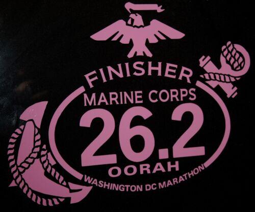 Finisher Rose Autocollant Lot de deux Lot de deux Marine Corps Marathon D.C