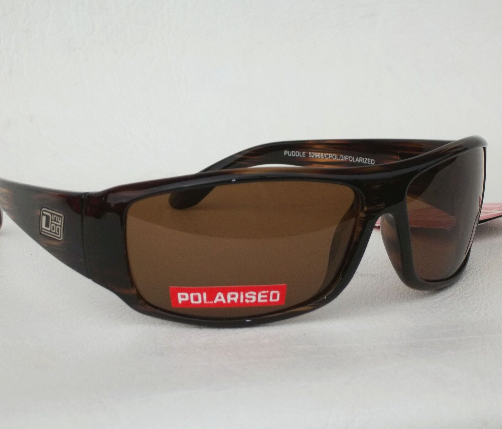 Dirty Dog Puddle Sunglasses Polarised Sport Cycling Running Sailing Brown