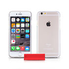 Apple iPhone 6 6s Clear Solid Plastic Case Cover With Screen Protector