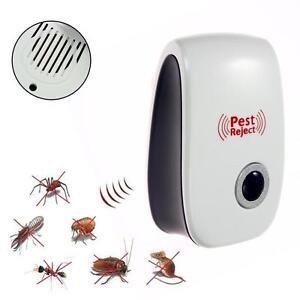 Ultrasonic Electronic Indoor Anti Mosquito Rat Mice Pest Bug Control Repeller GA