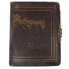 """Antique Victorian Photographs Photo Book Album Dark Brown 11.0"""" x 8.50"""""""