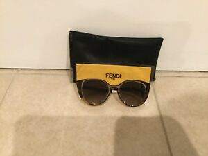 f0b69c8057ad5 Fendi Women s Cat Eye Retro Cut Out Sunglasses Brown