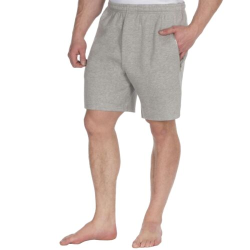 Mens Red Tag Fleece Lounge Shorts with Zip Pockets