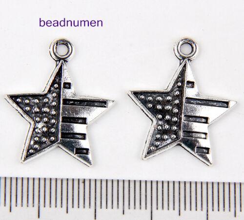 50pcs zinc alloy Little Star charms 23x20mm 1A1769