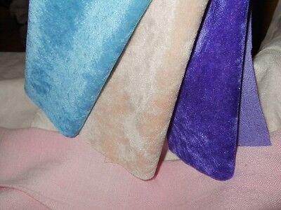3 COLORS Vintage LONG PILE Miniature Mini Bear Velvet Rayon Fur Fabric 9x9