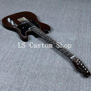US-Stock-Tele-Electric-Guitar-Rosewood-Veneer-Matt-Brown-Finish-Alnico-Pickups