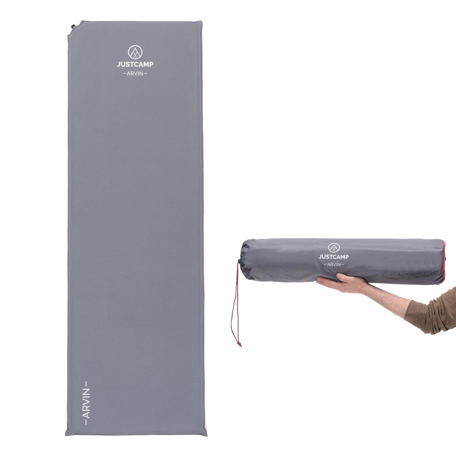 Isomatte selbstaufblasend JUSTCAMP Arvin XL 5.0 Thermomatte Iso Matte Luftbett    Einzigartig