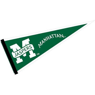 "Manhattan College Jaspers 12/"" X 30/"" College Pennant"