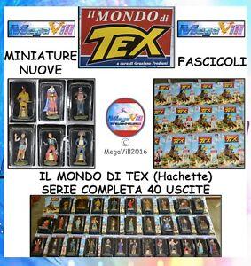 IL-MONDO-DI-TEX-Hachette-COMPLETA-Comics-Figure-MINIATURE-FASCICOLI-NUOVE-NEW