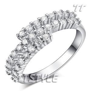 Womens Geogous TTstyle Fashion Sparkling CZ Band Ring Size 6-8 NEW