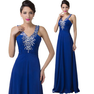 Cheap~Chiffon Long Evening Formal Party Wedding Bridesmaid Prom Gown Dress New