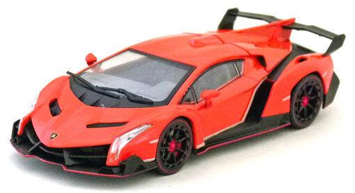 F S NEUF @ Kyosho 1 43 DIE CAST Modèle de voiture Lamborghini Veneno Orange 05571OR