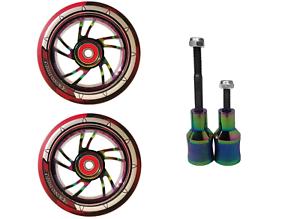 Neochrome Stunt Picchetti Combo COPPIA SCOOTER colore misto PU ruote in lega Core 100mm