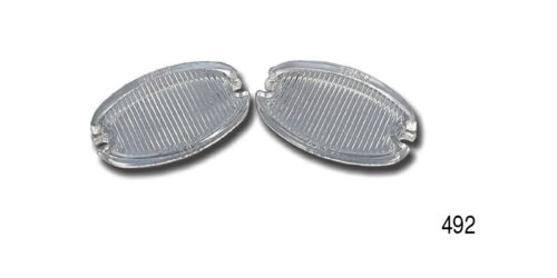 """Clear New Original Design 1957 Chevy #492 Pair /""""Glass/""""  BACK-UP LENS"""