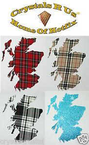 FABRIC-Scottish-tartan-MAP-iron-on-CUSTOMIZE-DIY-FUN-PARTY-CLOTHE-TRANSFER-PATCH