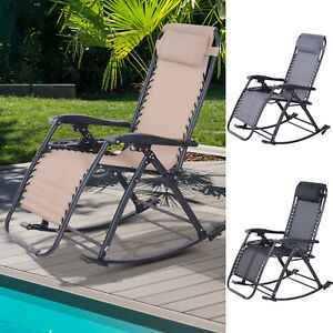 Brilliant Details About Zero Gravity Recliner Lounge Chair Patio Rocker Home Outdoor Napping Cup Holder Machost Co Dining Chair Design Ideas Machostcouk