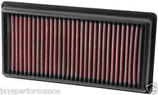 Kn air filter (33-3006) para Peugeot 208 1.2 VTi 2012 - 2016