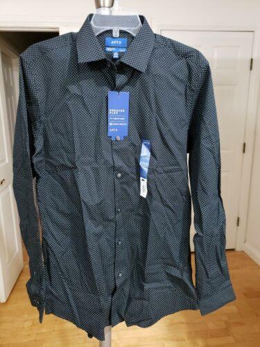 9 Slim-Fit Premier Flex Stretch Dress Shirt $45 Sz15-15.5 34//35 Details about  /Men/'s Apt