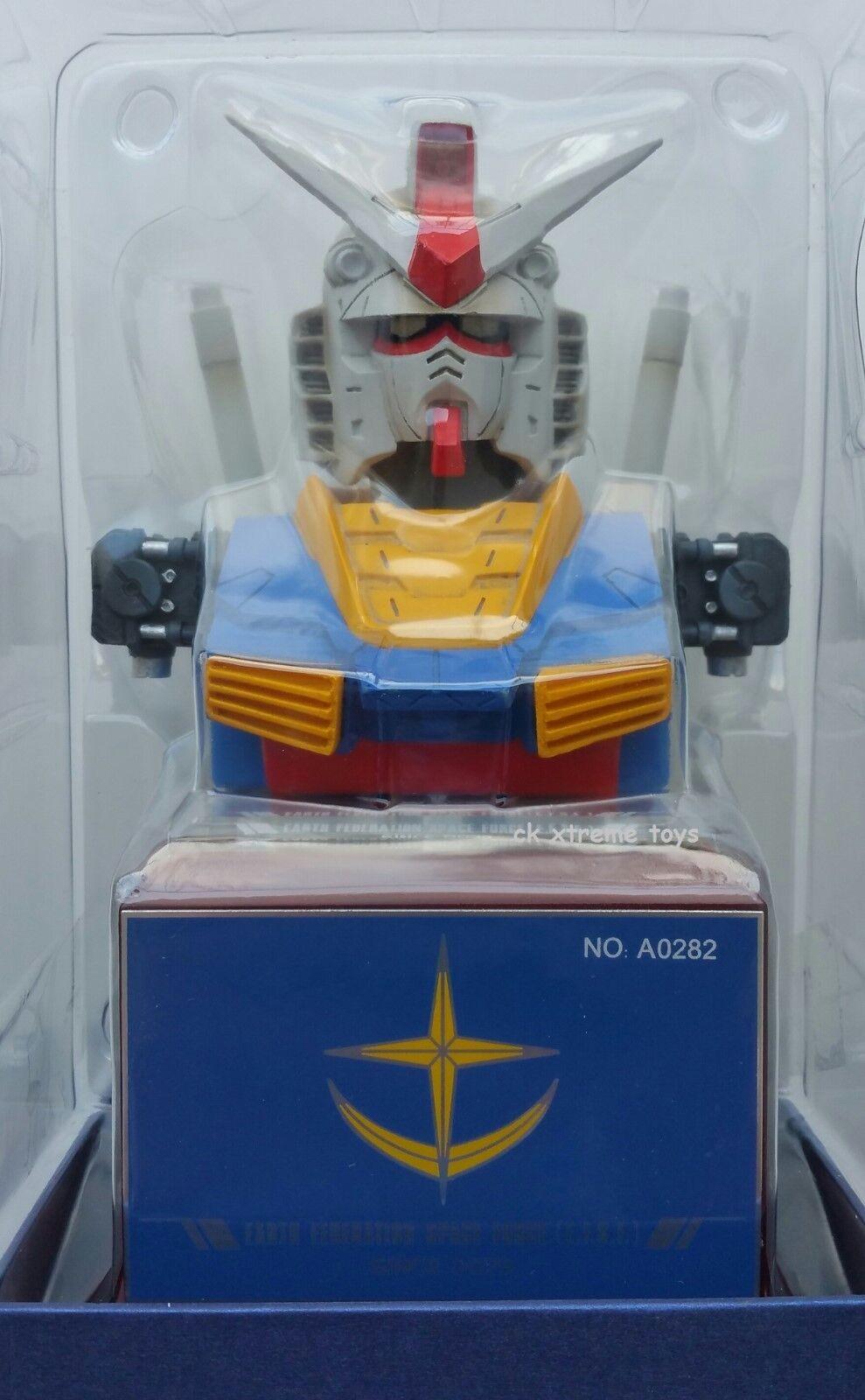 Desktop Gundam Bust Desktop Pen Stand Light Up Eyes E.F.S.F. Mobile Suit RX-78-2