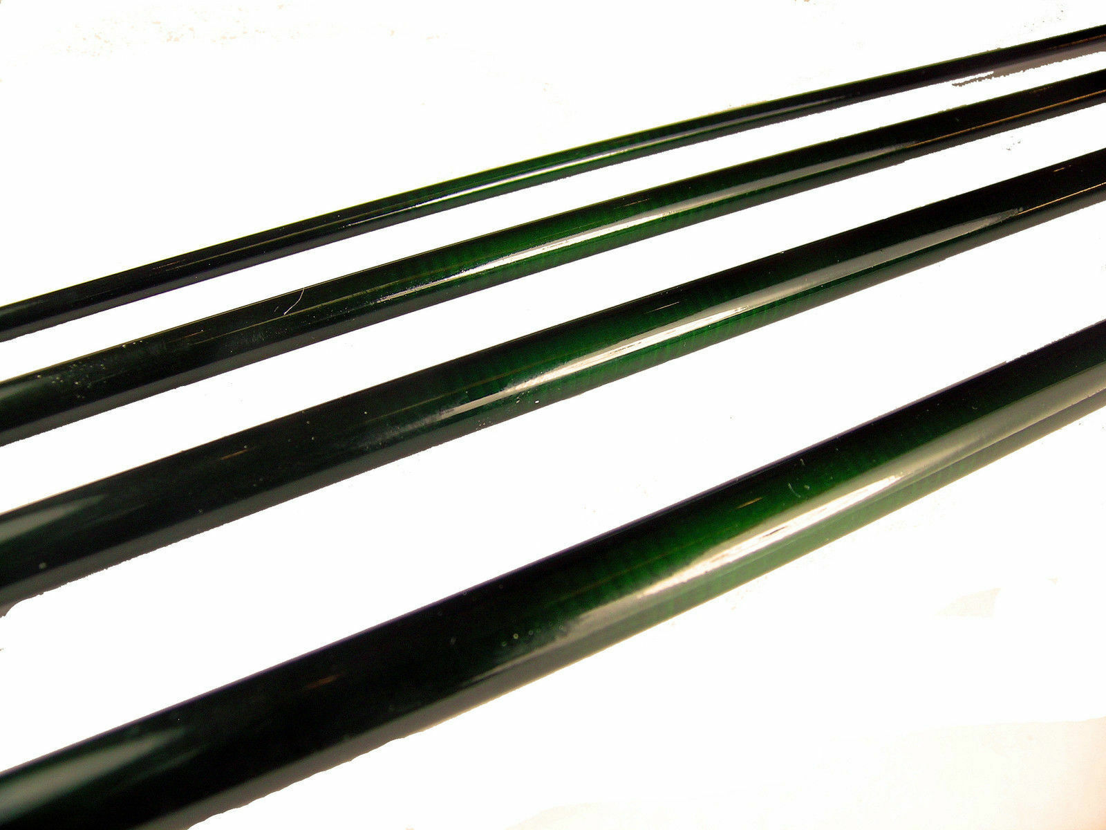 OLDE FLY SHOP SERIES IM-8 GRAPHITE FLY ROD BLANKS 9FT 8WT 4PC GLOSS GREEN