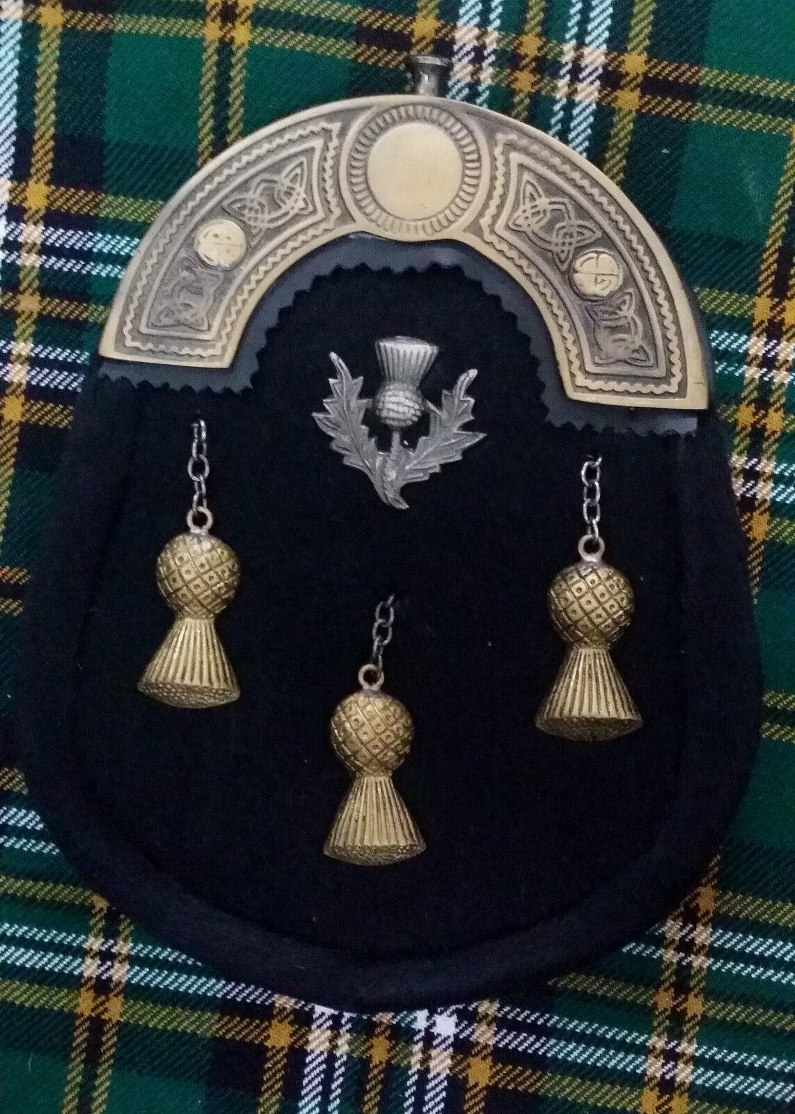 Mens Scottish kilt Boucle de ceinture Rampant Lion Antique//Finition Chrome KILT PIN Chaussettes