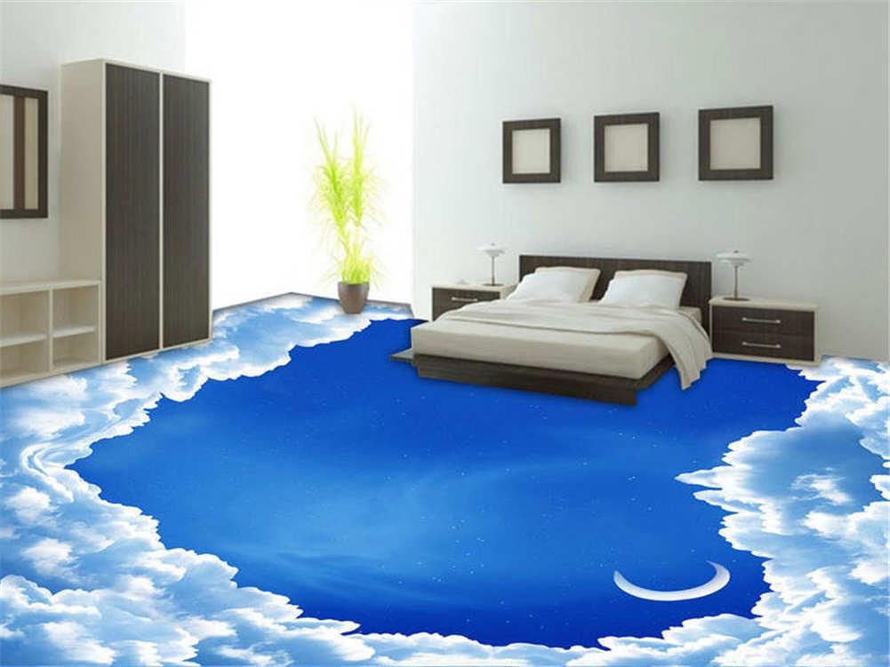 Heart-Shaped Hole 3D Floor Mural Photo Flooring Wallpaper Home Print Decoration