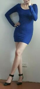 Forever-21-Blue-Bodycon-Dress